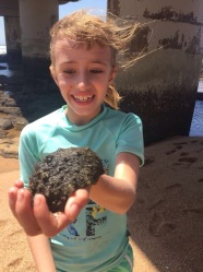 Calista found a sea slug!