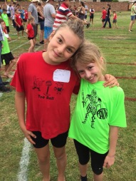 Sweet friends at athletics